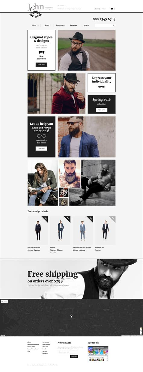 fashion store template fashion store responsive opencart template 57887