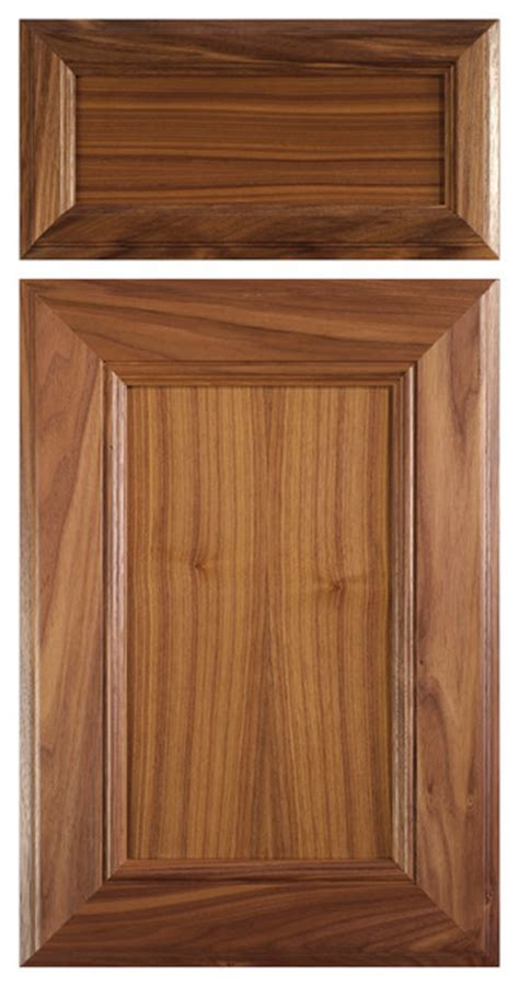 Clear Kitchen Cabinet Doors Mitered Cabinet Door In Select Walnut With Clear Finish Contemporary Kitchen Cabinetry