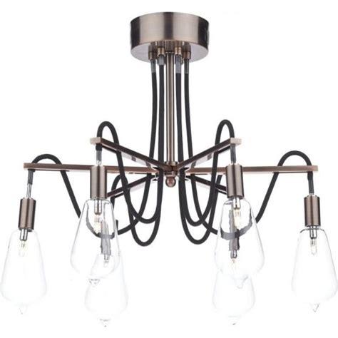 copper semi flush light scr0664 scroll copper ceiling light dar 6 light
