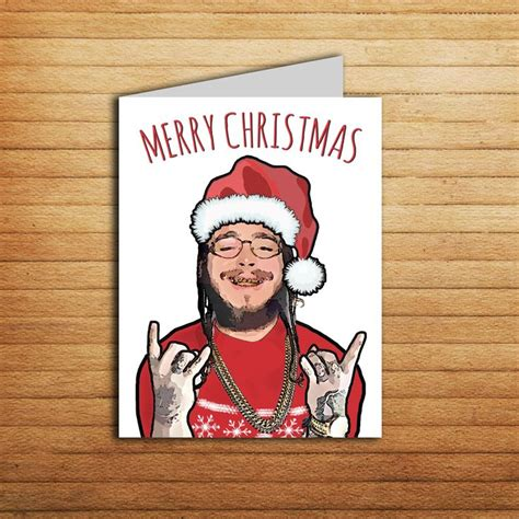 post malone card valentines day card printable funny greeting card   valentine gift  bf