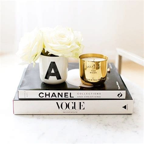 Coffee Table Fashion Books Candle Flowers In The Chanel Coffee Table Book