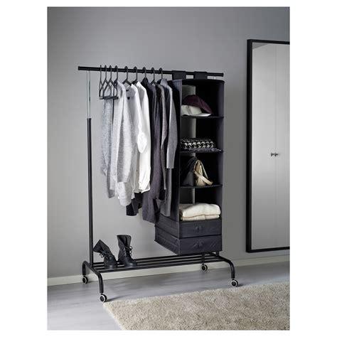 rigga clothes rack black ikea