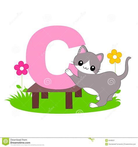 le lettere d pi禮 lettre animale de l alphabet c image stock image 8448501
