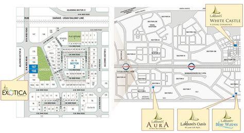 layout plan sector 8 ulwe lakhani exotica in sector 21 ulwe navi mumbai price