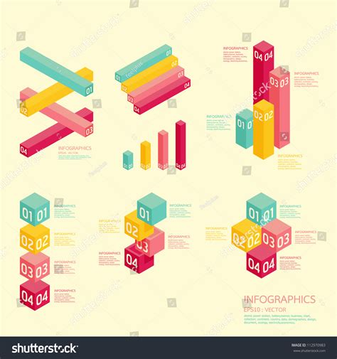 graph layout vector modern soft color graph design can stock vector 112970983
