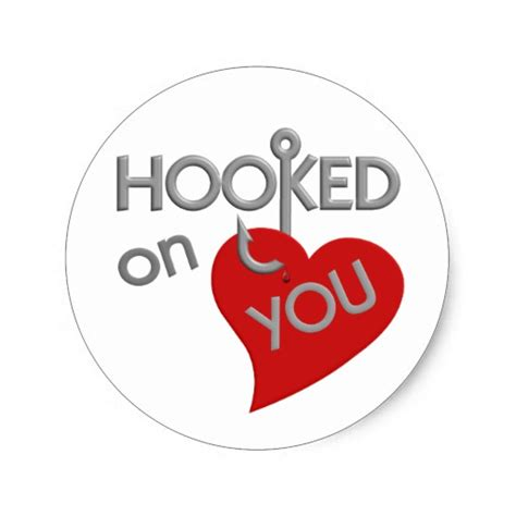 On You hooked on you stickers zazzle