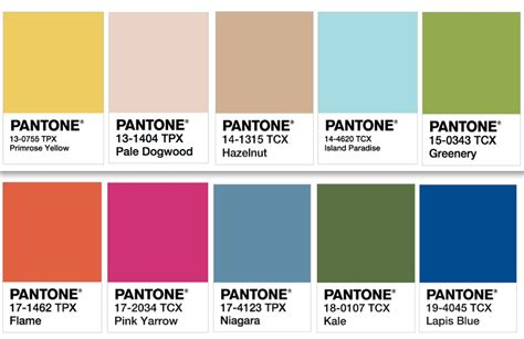 pantone colors get inspired with pantone s colors of the year your easy