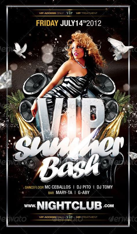 Vip Summer Bash Party Club Flyer Template Best Club Flyer Templates Bash Flyer Template
