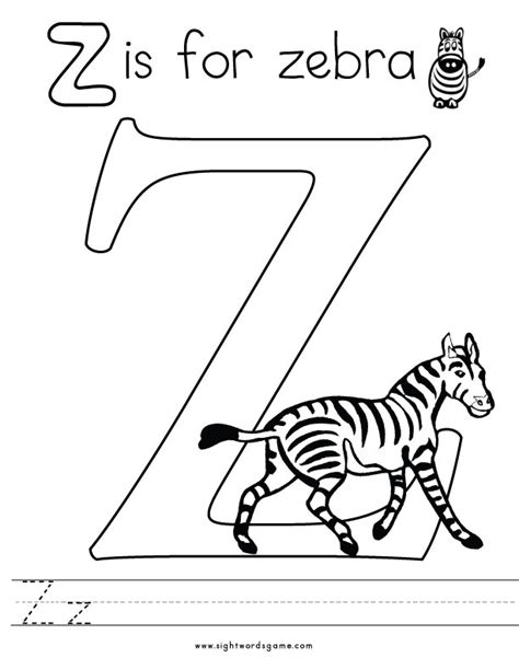 Letter Z Coloring Pages Az Coloring Pages Z Coloring Page