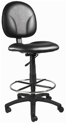 Black Caressoft Stool W Back by Black Caressoft Drafting Stools W Footring B1690