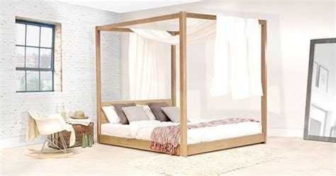 Handmade Oak Beds - handmade wooden low four poster bed by get laid beds ebay