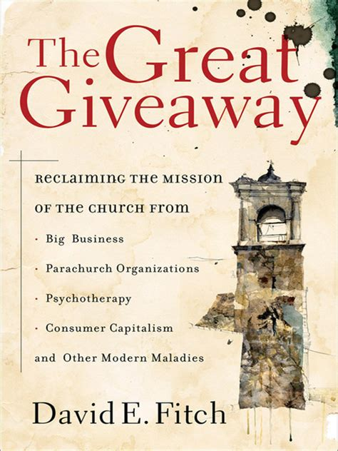 The Great Giveaway - fitch the great giveaway book summaries lifeandleadership com ministry resources