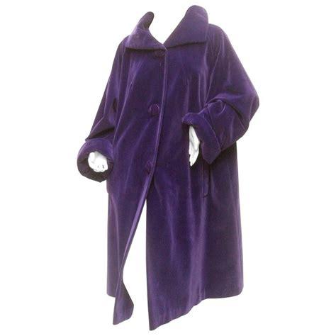 velvet swing jacket amethyst plush velvet swing coat c 1960 at 1stdibs