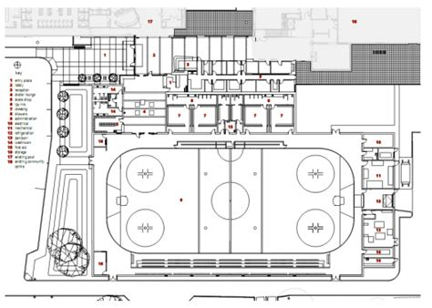 roller skating rink floor plans killarney rink lobby acton ostry architects archdaily