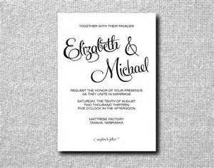 printable custom diy wedding invitation by littlepaperlantern