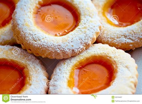 Delcious Yam Cookies delicious sweet cookies with jam royalty free stock