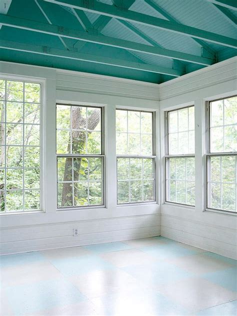 before and after affordable sunporch makeover sliding doors walkways and ceiling color