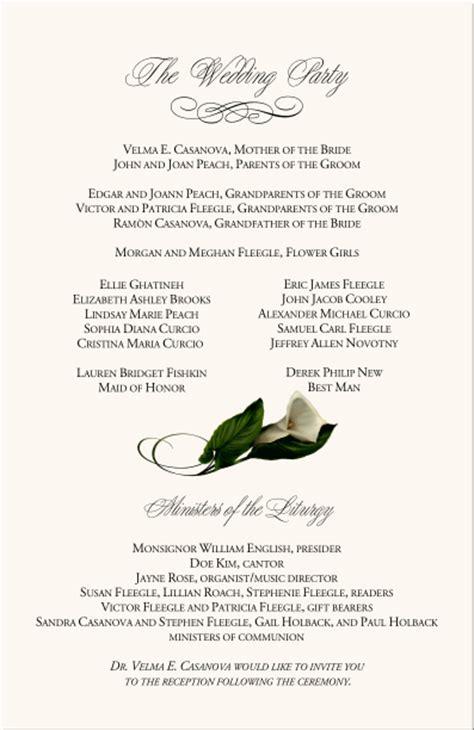 Catholic Wedding Program Template - Wedding Program Template 41 Free ...
