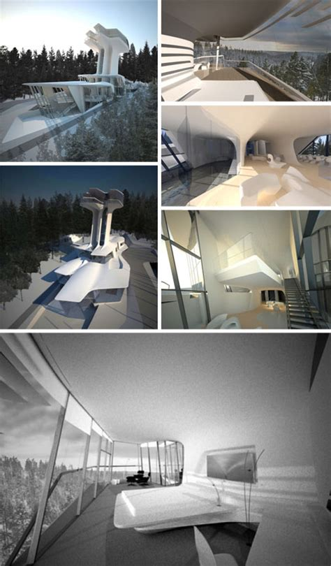 zaha hadid home half finished first house by zaha hadid towers 70 ft high