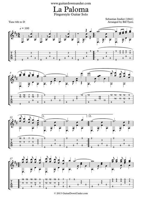 tutorial piano la paloma quot la paloma quot arranged for fingerstyle guitar by bill tyers