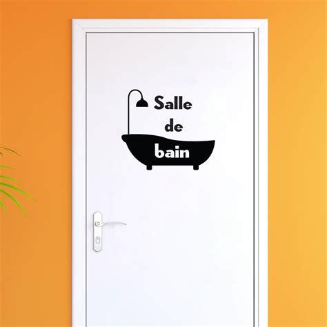 Sticker Baignoire by Sticker Porte Salle De Bain Baignoire Stickers Salle De
