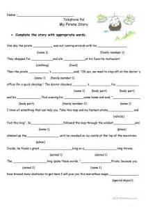 pirate story worksheet free esl printable worksheets