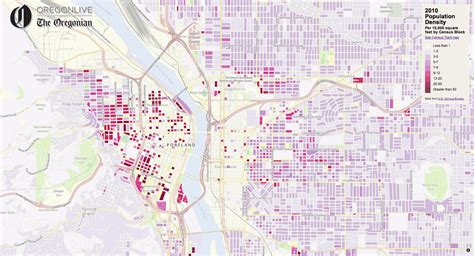 interactive map of oregon interactive map portland area density the oregonian