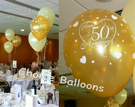 Golden 50th Wedding Anniversary Balloons Decoration Kit 15