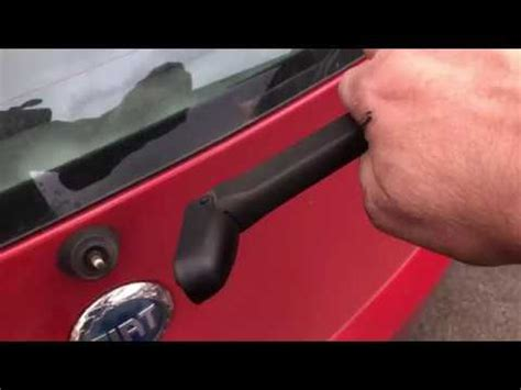 how to replace rear wiper arm on a 2002 bmw 7 series how to replace a rear wiper arm blade on a fiat punto youtube
