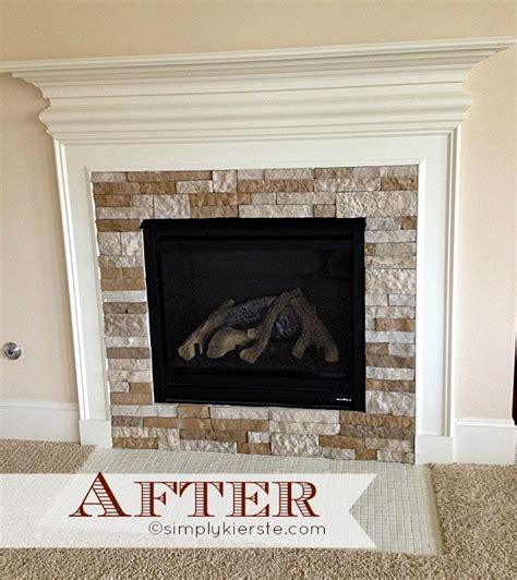 Fireplace Makeover Before And After by Fireplace Makeover Using Airstone Simplykierste