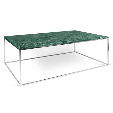 Green Marble Coffee Table Temahome Gleam Green Marble Chrome Rectangle Coffee Table Eurway