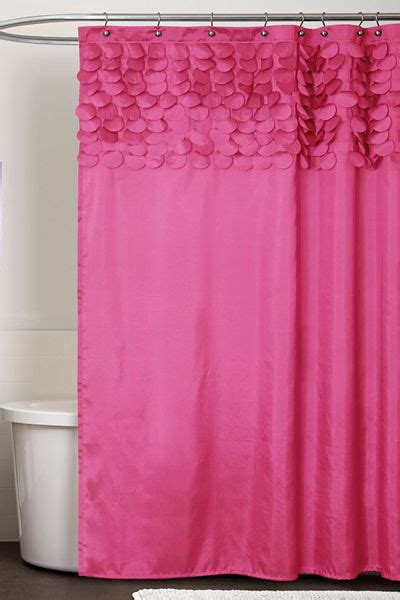 pink fabric shower curtain pink shower curtains decor by color