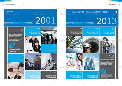 annual report design template vol 2 by thinqueber