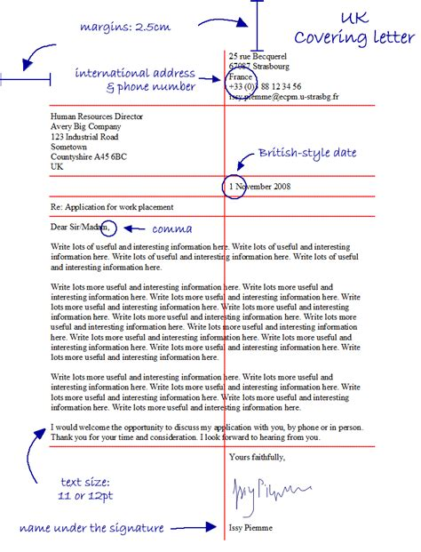 inspirational layout of a covering letter 74 for your