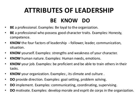 exle of leadership leadership