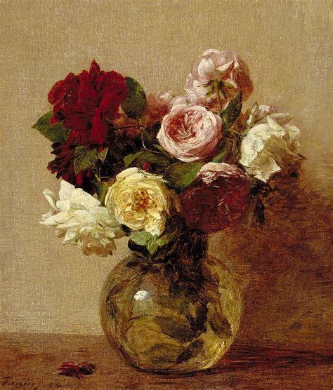 Roses Duvet Cover Roses Painting By Ignace Henri Jean Fantin Latour