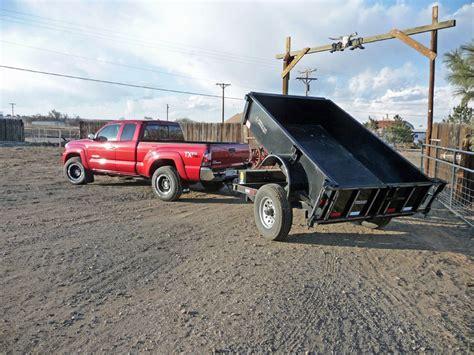 toyota tundra  tacoma towing  cimarron horse trailer  titan dump trailer