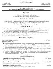 Industrial Design Engineer Sle Resume by Best Chemical Engineer Resume Exle Engineer Resume