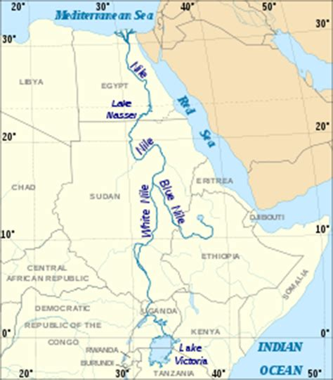 nile river on a africa map recreational geography september 2011