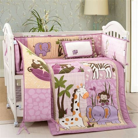Pink Monkey Crib Bedding Sets New Pink Beige Safari Animals Monkey Giraffe Baby Crib Bedding Nursery Set Baby Weldon