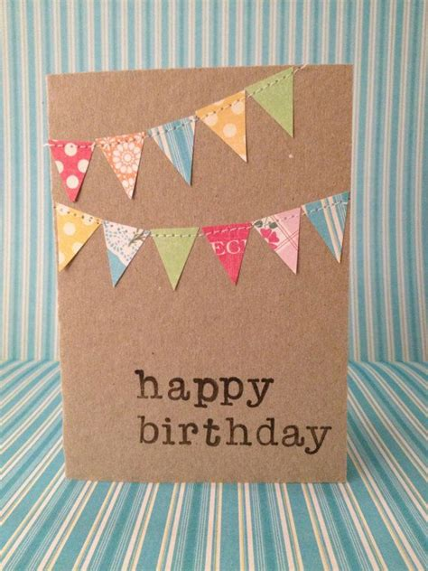 Simple Handmade Cards For Birthday - 25 best ideas about diy birthday cards on