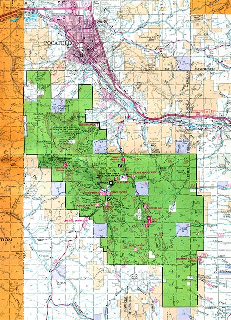 Buy and find Idaho maps: Forest Service: Statewide Index