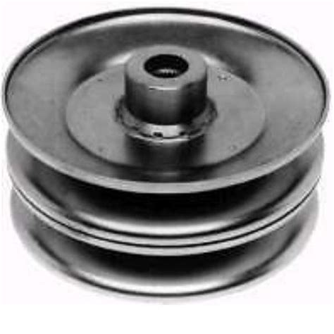 double pulley mtd 46 inch mower deck murray lawn mower blade deck spindle pulley 92128 center
