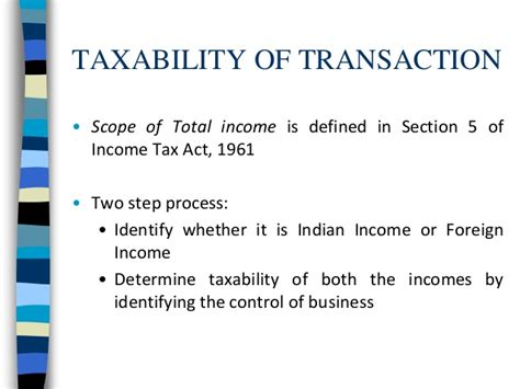 section 6 of income tax act assignment international taxation