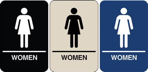 womans bathroom need a braille ada signs we have quot women s restroom quot signs
