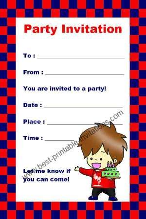 7 best images of free printable birthday invitations boy