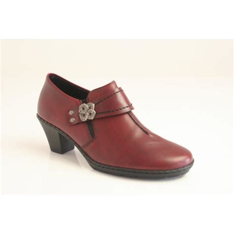 high cut shoes for rieker rieker leather high cut shoe with elasticated