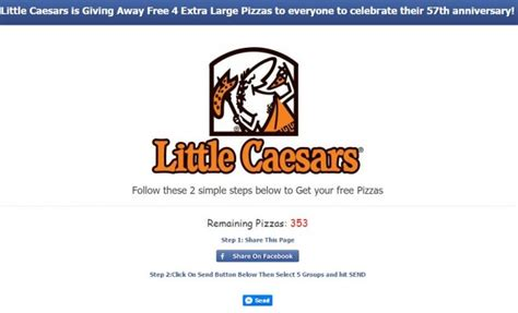 little caesars dog food coupons printable don t share the fake little caesars free pizza coupon