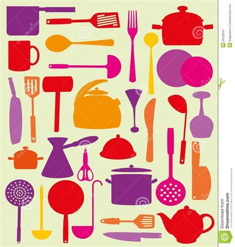 Cute kitchen pattern stock vector image of illustration 29126047
