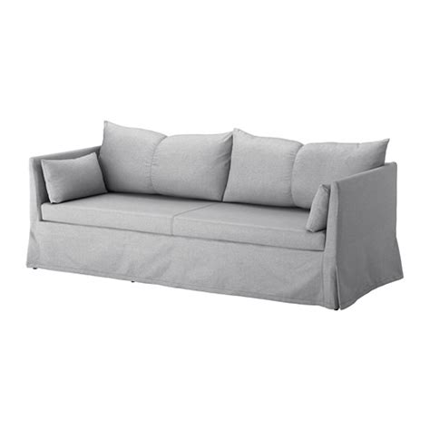 hussen sofa sandbacken cover for 3 seat sofa frillestad light grey